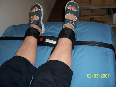 Ankle stretcher strap